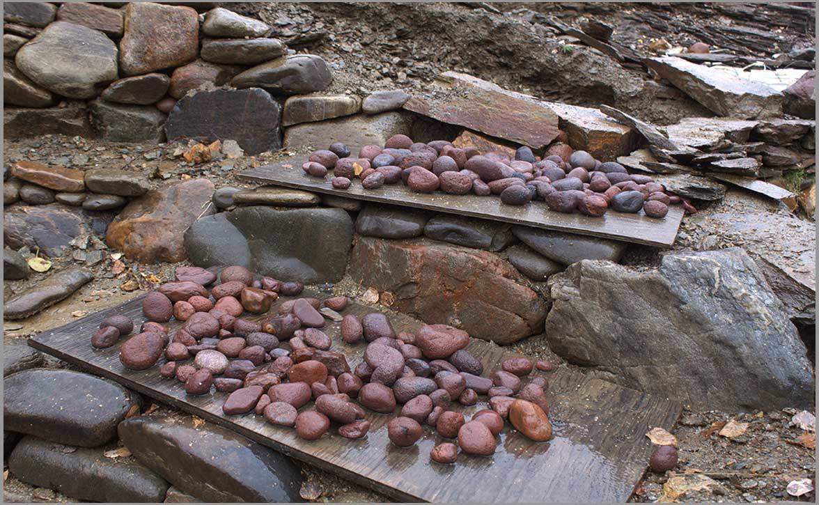red-egg-small-stones-stone-sanctuary-fairbanks-alaska