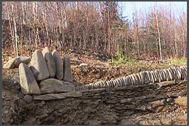 Stone bear paw and stone rays, stone sanctuary, Fairbanks, Alaska